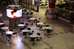 deserted shopping mall
